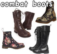 Frye boots! http://www.swell.com/FRYE/FRYE-VERONICA-COMBAT-BOOT-3 ...