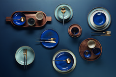table minimalist ASA Selection past … - Esszimmer Warm Colors, Trendy Colors, Small Living Room Furniture, Blue Dinner Plates, Gas And Electric, Modern Bedroom Design, Side Plates, Earthenware, Midnight Blue