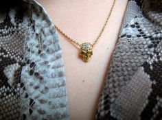 Collier crane or et diamants Djula
