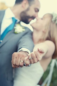 Mr & Mrs - wedding ring shot. Image: bycherry photography