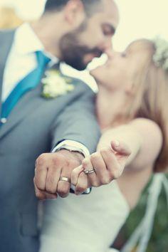 Mr & Mrs - wedding ring shot. Image: bycherry photography