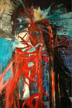 """Jolanta Kuśmierska  """"Inny 3"""" – olej na płótnie, 100 x 70 cm, 2014 r."""