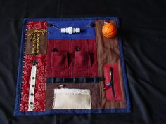 Man's Busy Fingers Fidget Quilt- Tactile - Bright & Colorful- Fun for Alzhiemer Patients