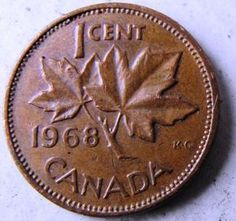 1 Cent Bronze Coin Maple Leaf Liberal Canada 1991 Elizabeth Ii