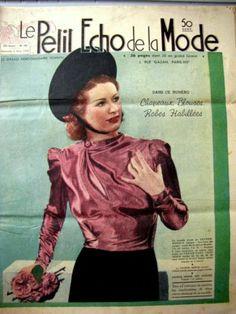 LE Petit Echo DE LA Mode 1938 N° 10 Tricot
