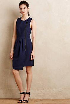 Zippered Crepe Dress