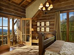 This breathtaking rustic mountain retreat was designed by Miller Architects along with custom builder Yellowstone Traditions, located in Big Sky, Montana. Rustic Entryway, Rustic Decor, Rustic Design, Rustic Elegance, Rustic Style, Modern Rustic, Moonlight Basin, Montana Homes, The Ranch