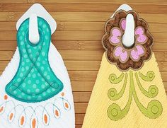 Very unique and useful kitchen Towel Hangers designs, Easy to follow instructions included, completely done in the hoop.  Have fun mixing and matching pattern fabric for yourpersonalize look. Thread and Fabric Bundle Available here!