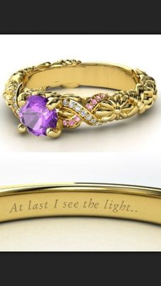Rapunzel wedding ring. Cuz I'm not gonna lie; this would be stupendous. All I want in life is a Rapunzel engagement ring