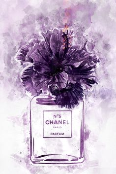 *This item has been updated* Chanel perfume vase wall art print Complete set of files Ready for printing Mode Poster, Chanel Wallpapers, Purple Art, Illustration Mode, Iphone Background Wallpaper, Fashion Wall Art, Purple Aesthetic, Wall Collage, Canvas Art Prints