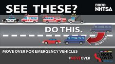 #MoveOver for Emergency Vehicles. We have families too. #EveryoneGoesHome
