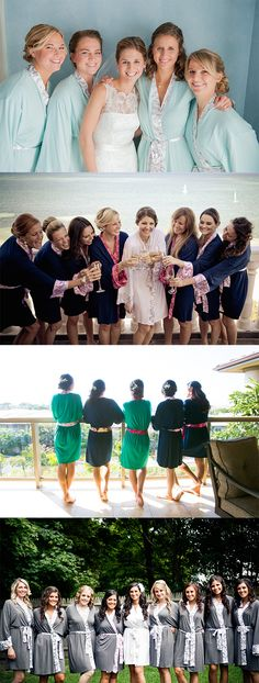 Love these darling bridal robes! They make the perfect gift for your bridesmaids!