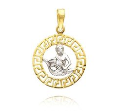 Pandante la comanda realizate din aur galben,alb si argint-Pandantive zodia Varsator (4)