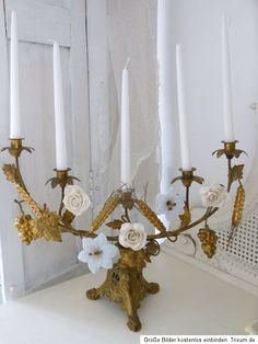French altar candelabra
