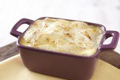Réalisez des lasagne à base de fondue de poireaux et de dés de fromage.