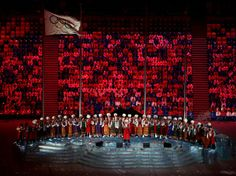 CLOSING CEREMONY:  Pre-show performance by the Kuban Cossack Choir during the 2014 Sochi Winter Olympics Closing Ceremony