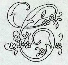 Embroidery Alphabet, Embroidery Monogram, Embroidery Transfers, Ribbon Embroidery, Embroidery Stitches, Folk Art Flowers, Flower Art, Name Paintings, Name Wallpaper