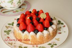 ダックワーズのフルーツタルト @ Le surce cake salon (Japan) ♥