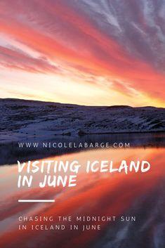 So when should you plan your trip to Iceland? This is your guide to Iceland in June – how to chase the midnight sun, what the weather will be like and what to do. Save and read later everything you need to know about visiting this beautiful country of Guide To Iceland, Iceland Travel Tips, Europe Travel Tips, European Travel, Travel Guides, Budget Travel, Europe Destinations, Amazing Destinations, Iceland In January