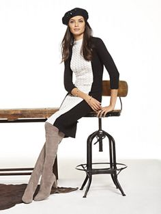 Shop Colorblock Cable-Knit Sheath Sweater Dress. Find your perfect size online at the best price at New York & Company.