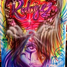 Airbrush artwork by Diego Diablo Paint Shirts, Graffiti Designs, Artist Bio, Airbrush Art, Betty Boop, Custom Paint, Body Art, Illustration, Artwork
