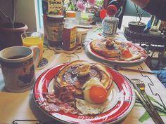 #breakfast #pancakes #mascalpone #maiplesyrup #sunday