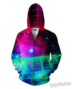 Space Grid Zip-Up Hoodie – RageOn! - The World's Largest All-Over-Print Online Store