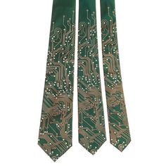 For the computer geek or hardware hacker in your life:  Necktie - circuit board by Michael Phipps