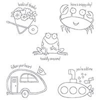 You're Sublime Wood-Mount Stamp Set by Stampin' Up!