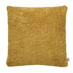 Teddy Bear Ochre Cushion   Dunelm