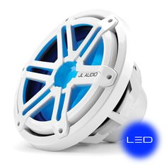 MX-Series 10-inch Marine Subwoofer Driver for Infinite-Baffle Use (175 W, 4 Ω) - White Sport Grille with Blue LED Illumination