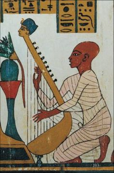 well-known from Egypt though, including harps, single and double ...