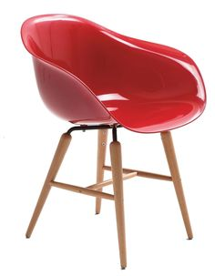 Forum chair hout - Kare Design - rood