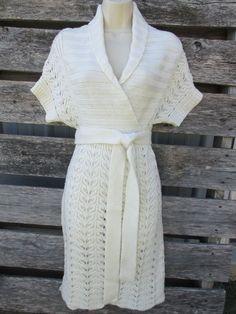 Moda International Victoria's Secret Sweater Dress sz Med Wrap Tie Wool Blend  #ModaInternational #SweaterDress #Casual