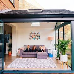 Our Modern Conservatory Extension- Before and After (Home Renovation Project - Katie Ellison Modern Conservatory, Conservatory Extension, Conservatory Interiors, Garden Room Extensions, House Extensions, House Extension Design, House Design, Extension Ideas, Glass House