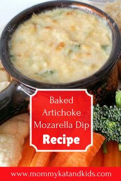 Artichoke dip is a delicious appetizer that many don't know how to make. We have an easy artichoke mozzarella dip recipe that will take you less than 30 minutes to make! It's a delicious and kid friendly recipe too! Make sure you check it out and save it Best Appetizer Recipes, Quick And Easy Appetizers, Yummy Appetizers, Dip Recipes, Great Recipes, Favorite Recipes, Delicious Recipes, Easy Recipes, Baked Artichoke