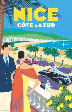 PEL303: 'Nice - Côte d'Azur' by Charles Avalon - Vintage posters - Art Deco - Pullman Editions