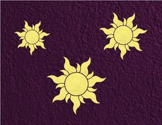Rapunzel / Tangled Royal Sun Insignia Wall Decal / by GoodMommyLtd