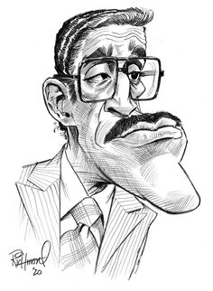 Tom's Daily Coronacature- Sammy Davis Jr! Character Sketches, Character Drawing, Character Illustration, Character Design, Animation Character, Cartoon People, Cartoon Faces, Cartoon Art, Funny Caricatures