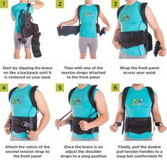 postural extension back brace vest for kyphosis lordosis