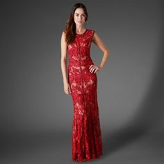 Phase Eight Ruby paige tapework full length dress- at Debenhams.com