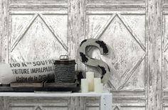 Tapete Holz Fachwerk AS Creation Weiß Grau 30752 1