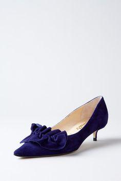 Navy Blue Kitten Heels Fs Heel