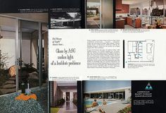 House of Light - designed by George Muraki, Architect. Sacramento, CA | Flickr - Photo Sharing! -- Two-page ad in December, 1961 issue of House + Home. Built by the Blomberg brothers. Photos by Julius Shulman. via atomicpear