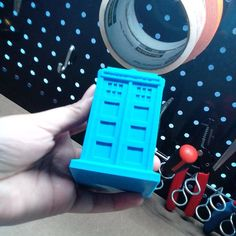 Found a 3D Printed Tardis! #doctorwho #3dprinting by crischamoy