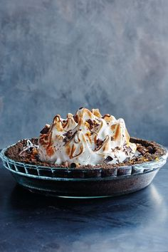 Black Bottom Pie   Top 10 Pie Recipes for Pi Day #dessert #pie