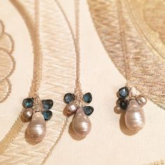 These were a huge hit last month! Thank you to my lovely customers. London Blue Topaz and pearl necklace.