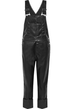 GIVENCHY Faux Leather Overalls. #givenchy #cloth #jumpsuits