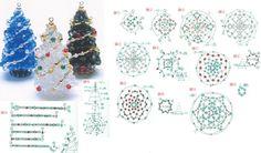 Что я нашла! Такое изящное рукотворное чудо и еще со схемами! Сразу же решила поделиться с вами! Возможно кто то из вас уже сейчас ,заранее... Beading Projects, Beading Tutorials, Beading Patterns, Motifs Perler, Beaded Cross, Beaded Bead, Beaded Christmas Ornaments, Beaded Animals, Christmas Jewelry