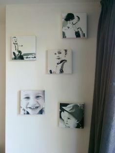 Goedkoop zelf canvas foto maken.  Diy canvas photo very cheap